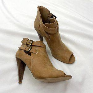 G by Guess Daley Cutout Ankle Bootie Tan Size 10
